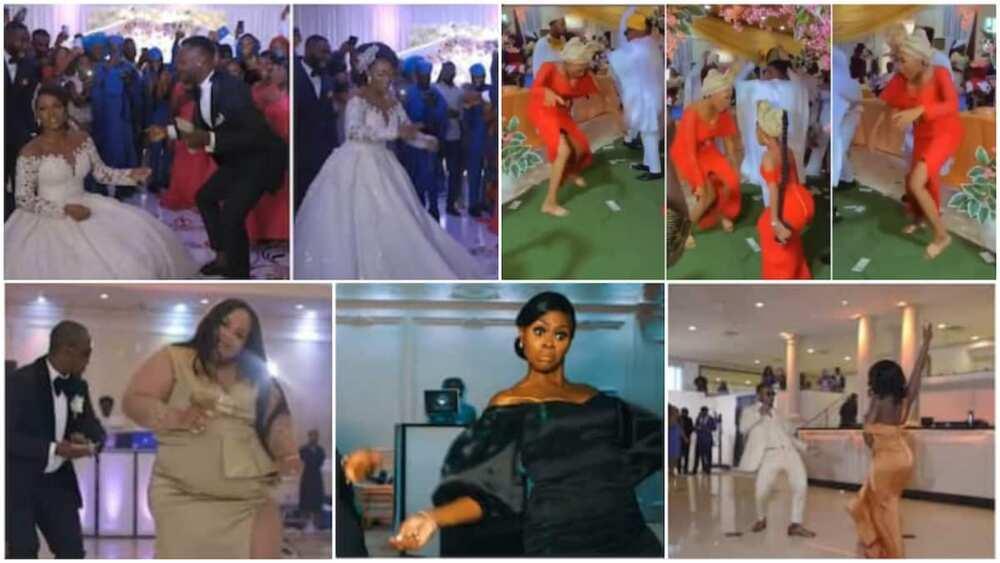 People had fun during the wedding ceremonies.