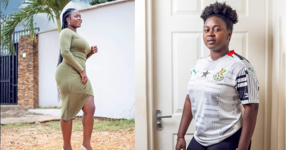 Gifty Ayew Asare: Ghanaian soccer player drops oi makeup and wig photo