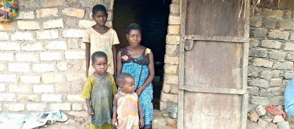 Zawadi and three of her older children. Photo courtesy of Zawadi.
