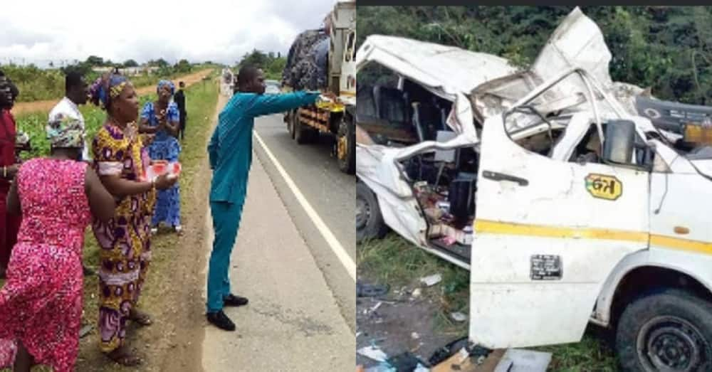 Pastors captured in powerful video praying & spraying Accra-Kumasi highway to stop accidents