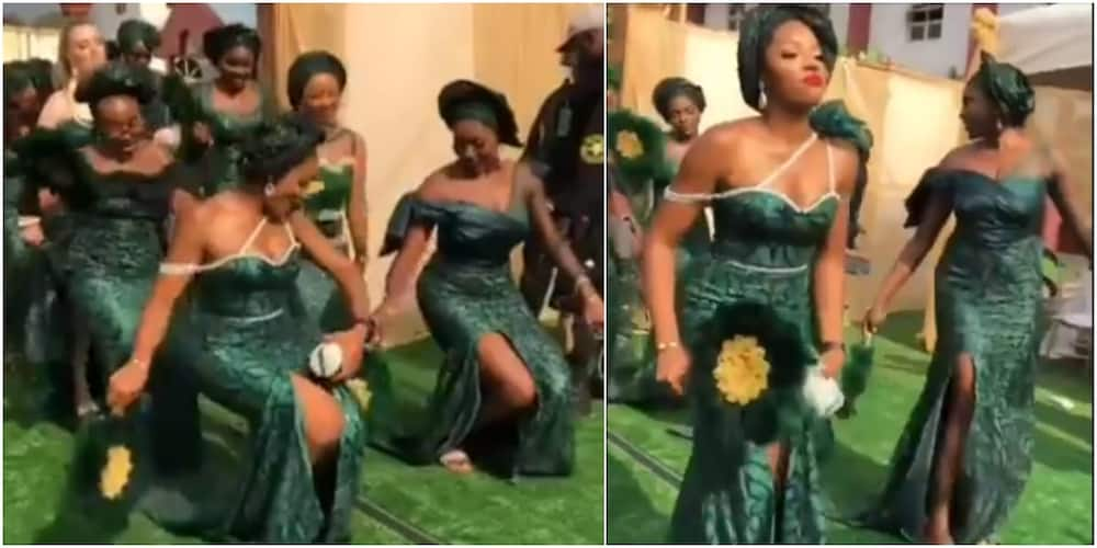 """Reactions Trail Heartwarming Video as Adorable Bridal's Train """"Scatters"""" Dance Floor at Wedding Ceremony"""