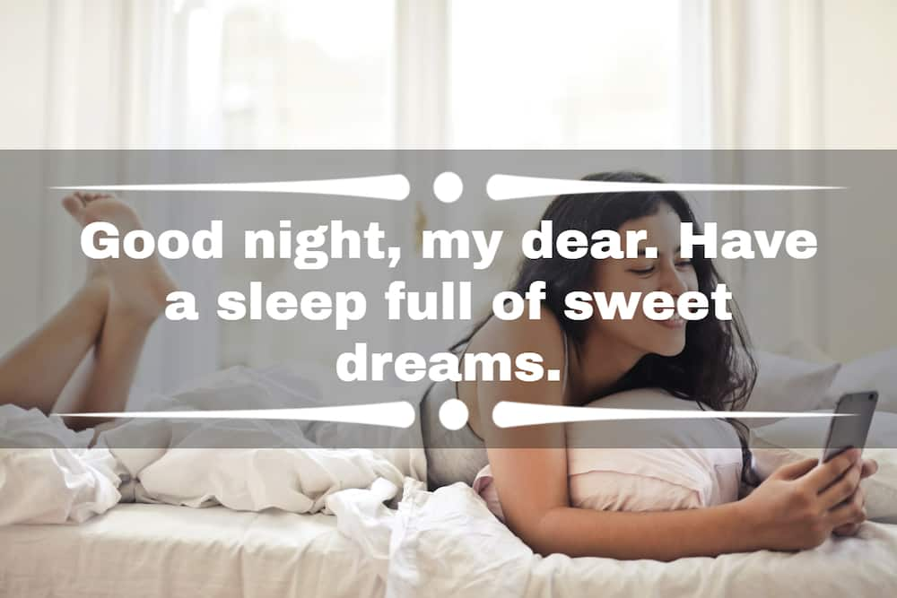 cute good night messages for her