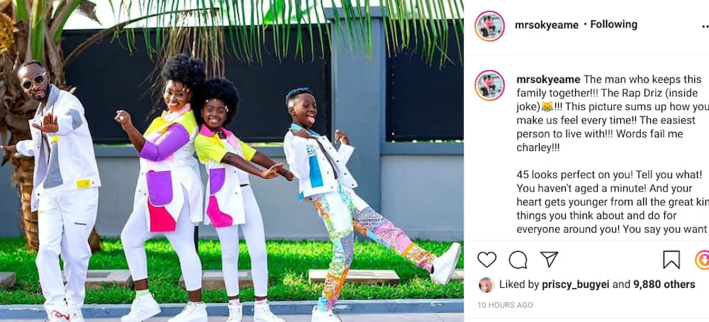 How Okyeame Kwame's Wife, Annica, And Children Kwame Bota, Sante Celebrated His Birthday (Photos)