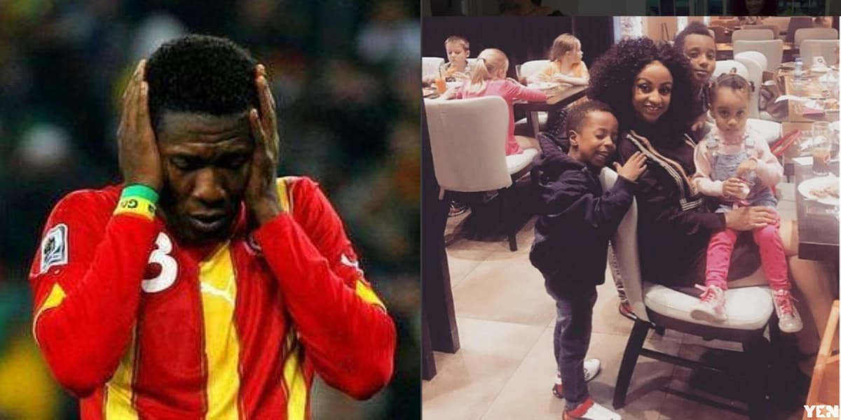 Asamoah Gyan reportedly yet to contact family after DNA test