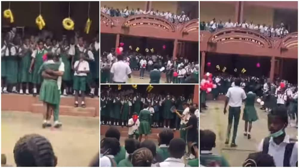 Students jubilated in the video.