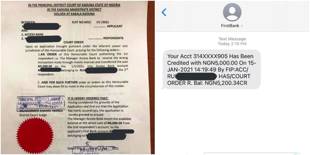 Nigerian man drags lady to court to retrieve N5k he sent after she failed to show up