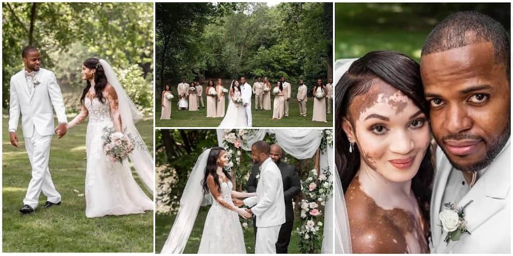 Massive Reactions as Man Ties the Knot to Lady with Vitiligo, Photos Emerge from Their Fine Wedding Ceremony