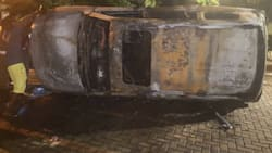 Accra Mayor Mohammed Adjei Sowah's vehicle burnt to ashes at his Ridge residence (Video)