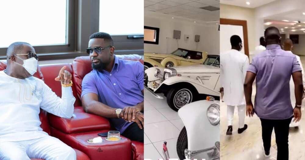 Sarkodie given a tour of Osei Kwame Despite's million dollar mansion in Accra