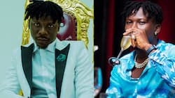 Stonebwoy shows love to the visually-impaired in Kumasi as he donates walking aids to them
