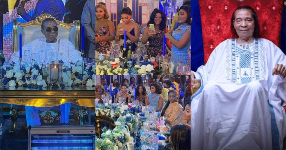 Beautiful daughters of Apostle Safo Kantanka show off at his lavish 73rd b'day party; videos, photos emerge