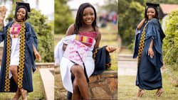 Your girl is a graduate - Gh lady 'screams' as she bags degree in Business Administration from Legon; drops photos