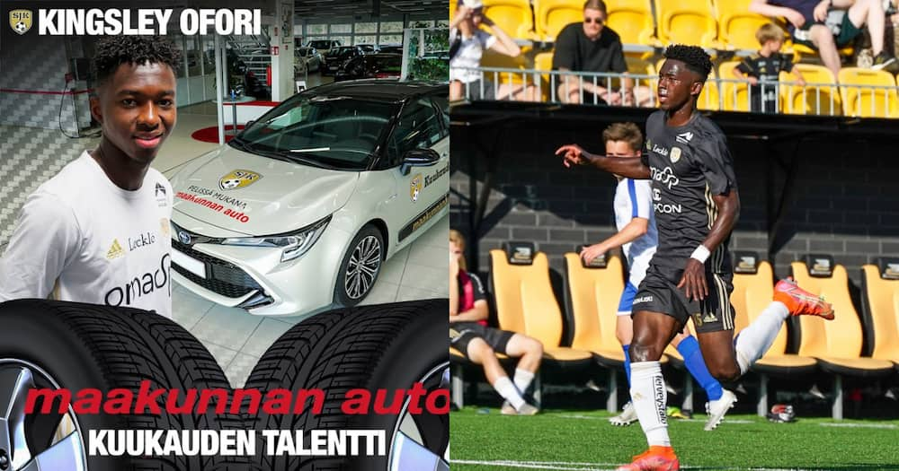 Ghanaian footballer Kingsley Ofori gifted car for emerging player of the month in Finland