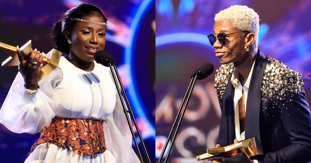VGMA 2021: KiDi Reacts After Diana Hamilton Wins Artiste Of The Year Ahead Of Him