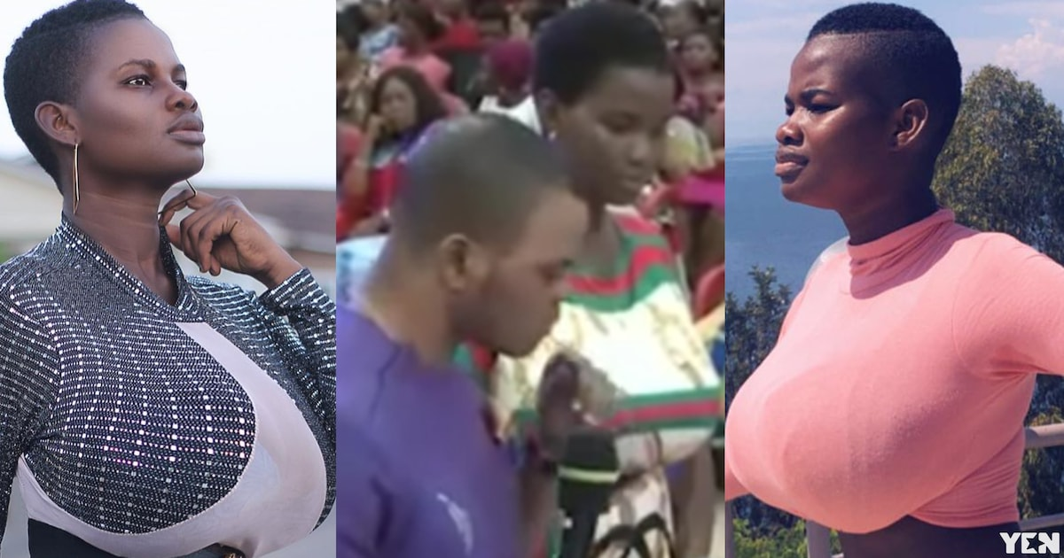 Heavy melon model Pamela Odame runs to Obinim for deliverance from evil spirits (video)