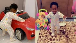 Priceless moment - Video of Medikal and Fella Makafui's daughter taking her first steps warms hearts