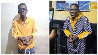 Photos of Shatta Wale in handcuffs in police custody pop up; he's full of smiles