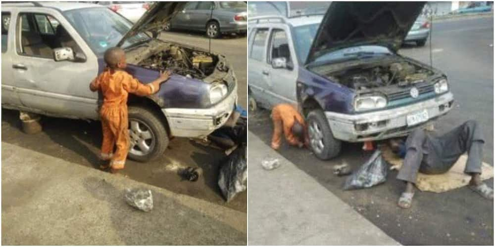 Social media reacts as photos of 6-year-old mechanic boy go viral