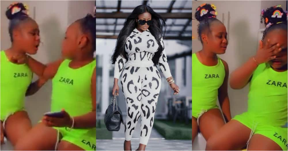 Nana Akua Addo's first daughter fights her younger sister Ohemaa Dokua, video causes stir online