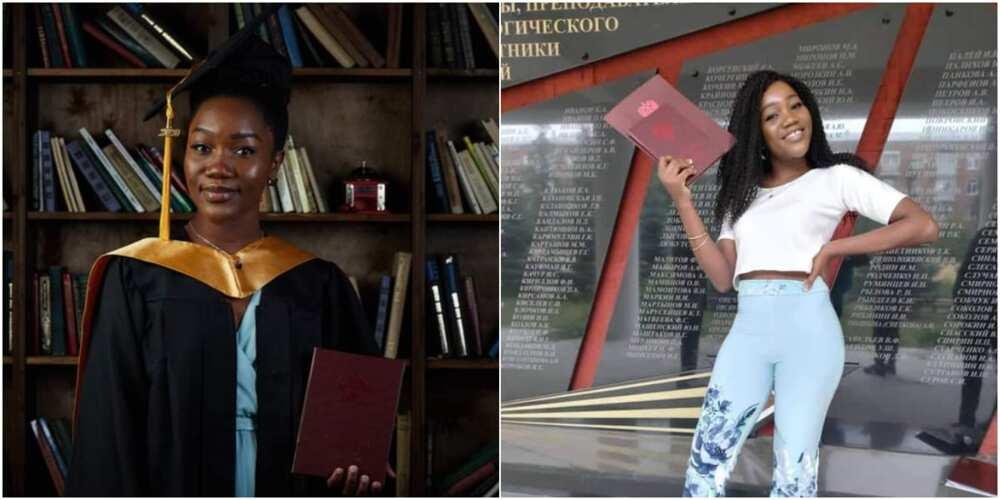Ogechukwu Ozoani: Nigerian lady wins big in Russia, graduates with 5.0 CGPA