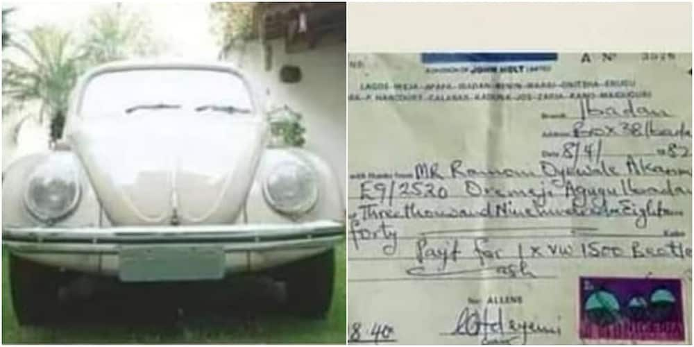 Good Old Days: Many React as Photo of Beetle Car Sold for N3,908 Emerge Online