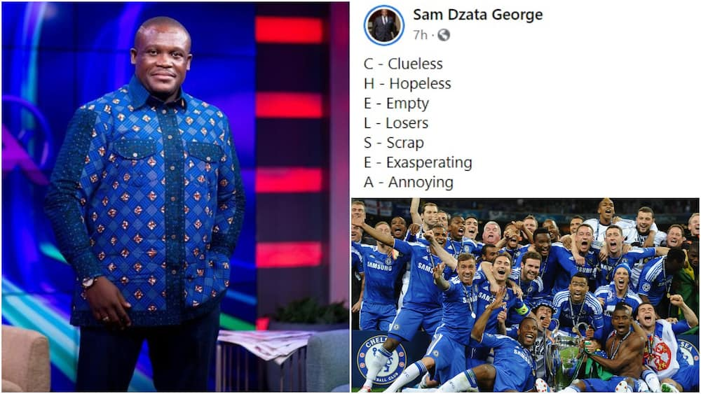UCL Final: Sam George teases Chelsea fans with unforgiving acronym