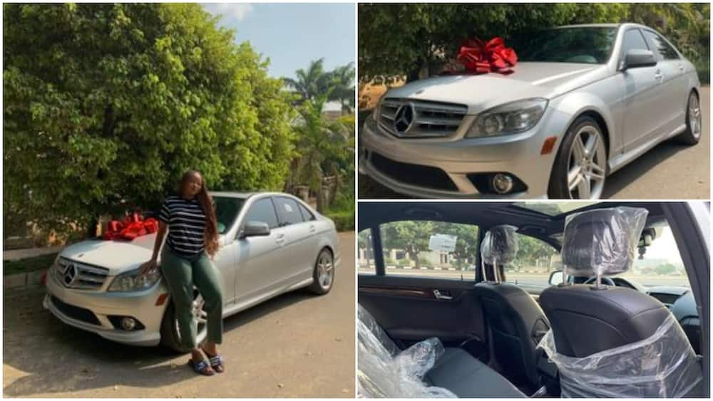Nigerian lady causes massive stir online after showing off brand new car she bought for herself