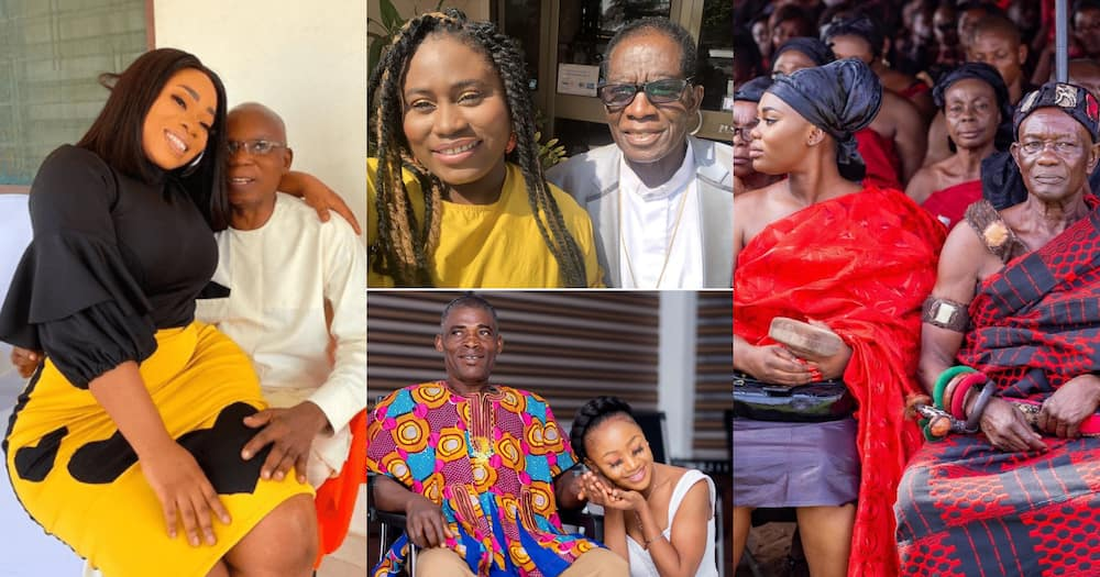 Fathers Day: Afia Schwar, Moesha Boduong, Poloo, Lydia Forson, Other Stars Celebrate Their Dads (Photos)
