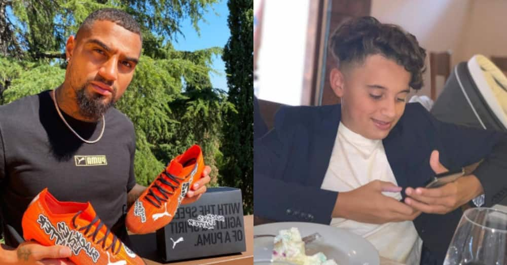 Kevin-Prince Boateng drops photos of his son; ladies say he's beautiful