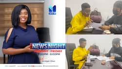 Photos of Bridget Otoo at work at Metro TV pop up amid reports that gov't asked for her to be sacked