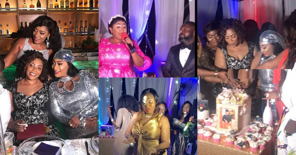 Ellen Kyei White birthday party with Matilda Asare and other Kumawood stars