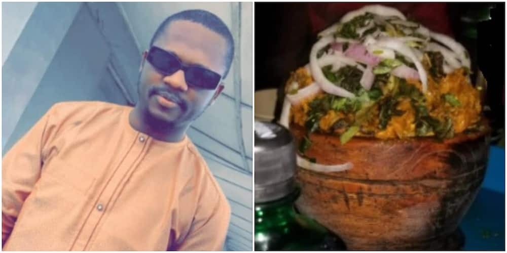 Man recounts what happened when he left his wife while she was in labour and went to eat isiewu