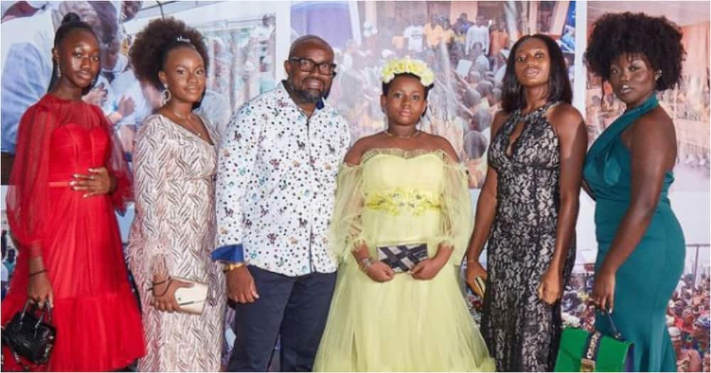 McDan: Ghanaian millionaire shows off his all-grown daughters for the 1st time as he marks 50th b'day
