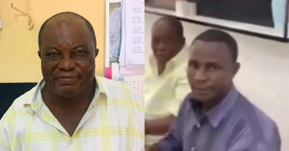 2 Ghanaian old men caught stealing phones at Circle in Accra; eye-popping video drops