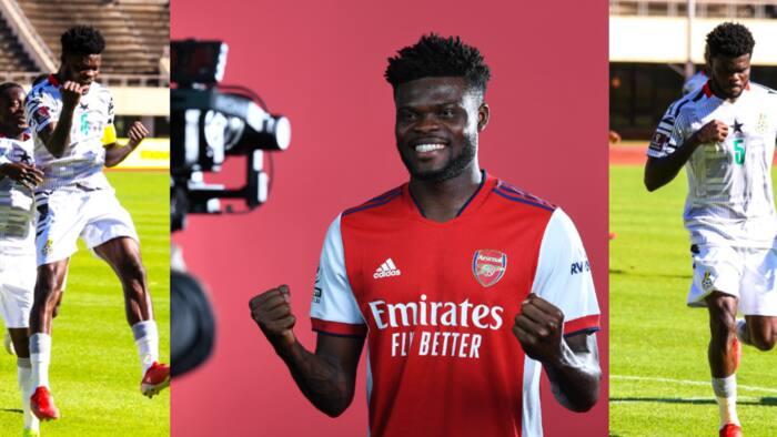 'Love that Partey' - Arsenal react to midfielder's exquisite freekick against Zimbabwe