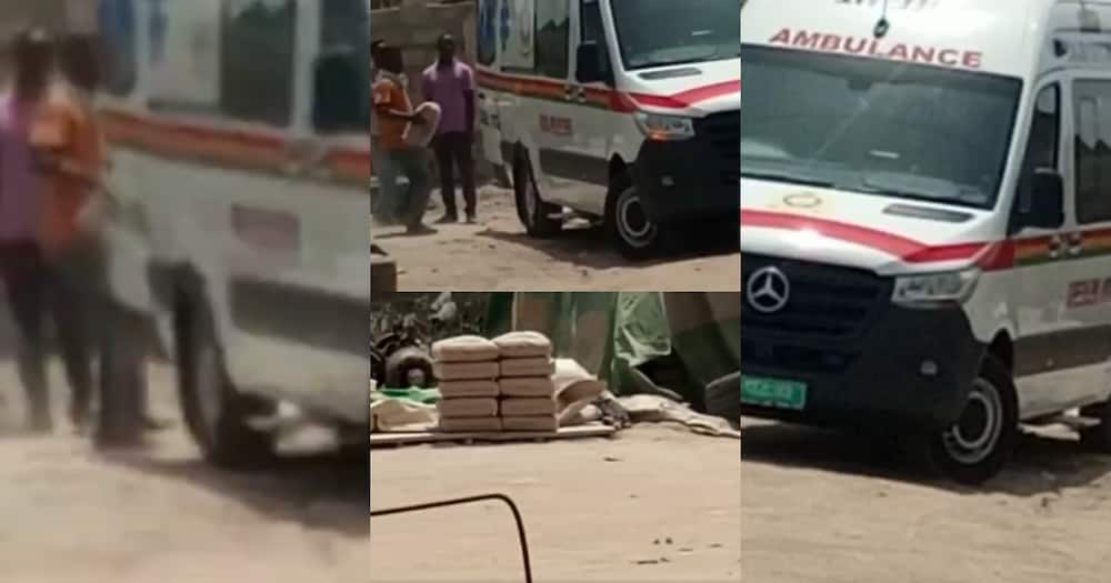 Video Of Akufo-Addo's Ambulance Being Used To Carry Cement Stirs Reaction