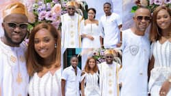 Ken Osei and wife pose with his brothers as Fadda Dickson drops 10 photos from their 1st anniversary