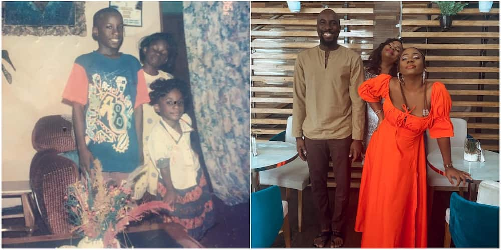 Siblings recreate picture of many years ago with new adorable family photo, wow social media