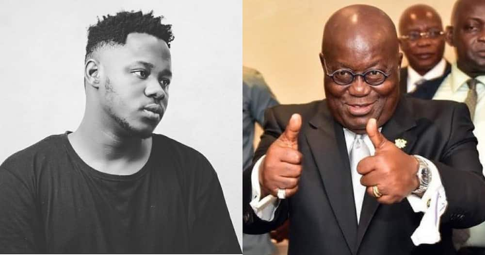 Medikal says Akufo-Addo's silence on #ENDSARS in Nigeria does not mean he is not working