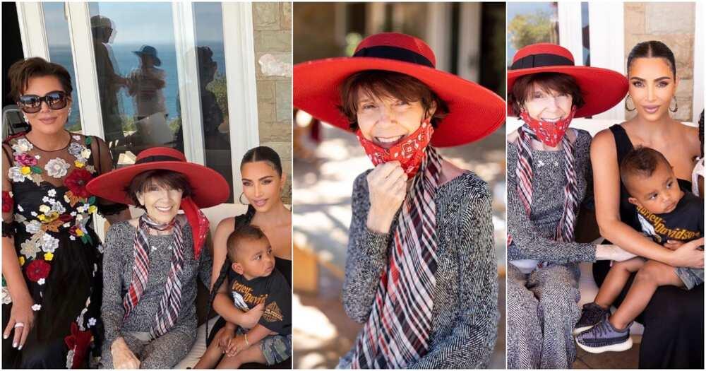 Kim Kardashian and grandmother