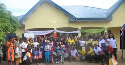NSS personnel in the C/R build 5-bedroom house orphanage from allowances