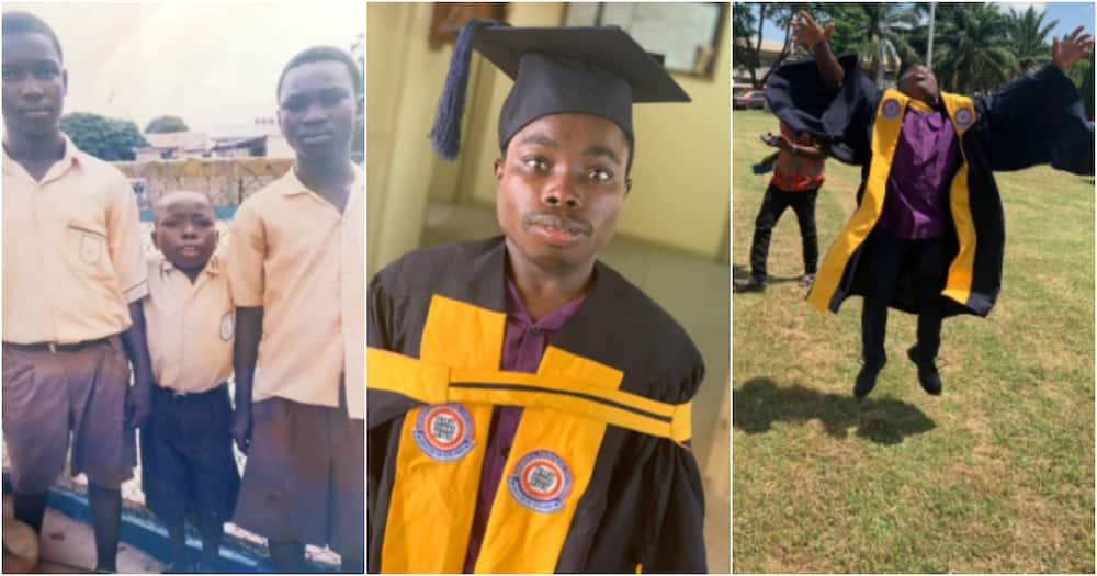 Harry Asah: Ghanaian man earns a degree in Automobile Engineering despite struggle with disability