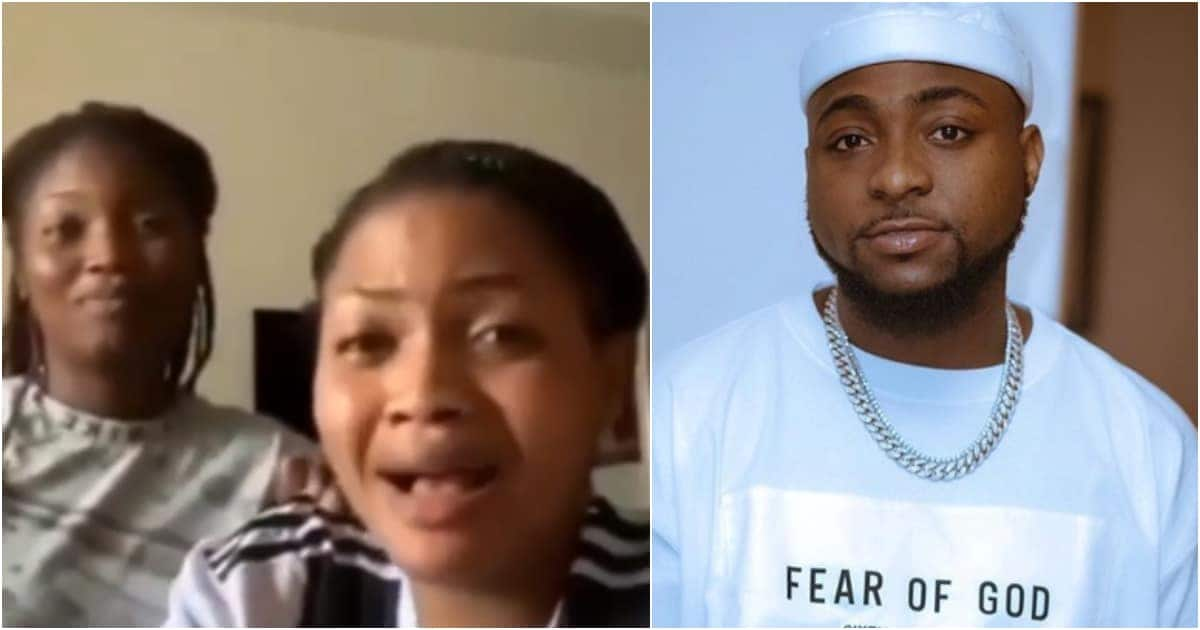 Lady and friend say Davido pregnancy claim was a joke after singer found them on social media