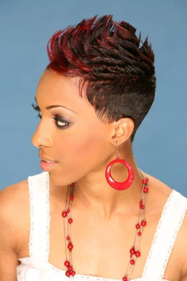 pineapple hairstyle for short natural hair