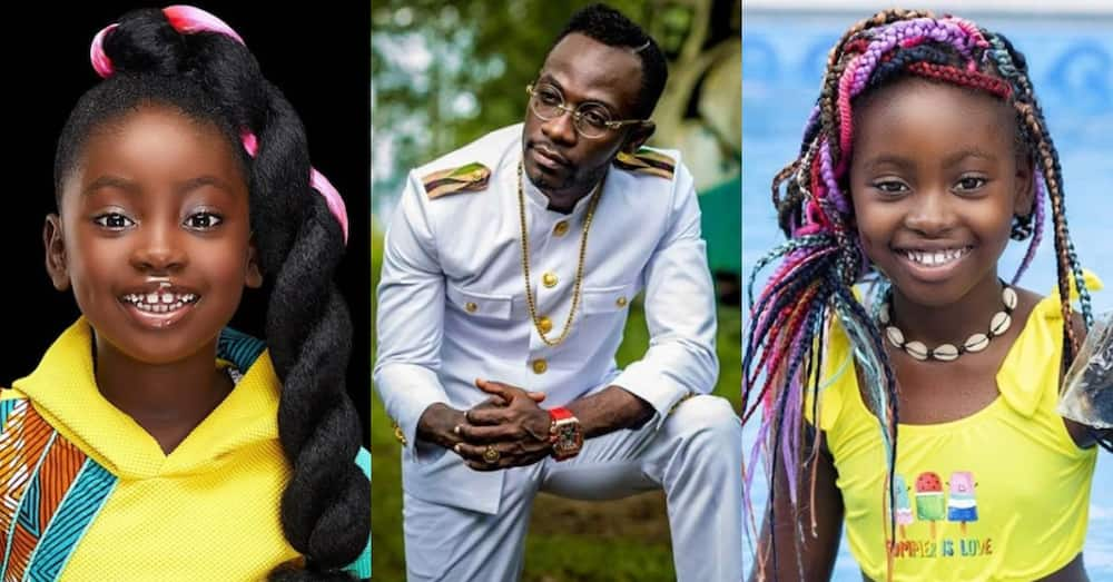 Okyeame Kwame showers 'special love' on daughter as she marks her b'day in photo