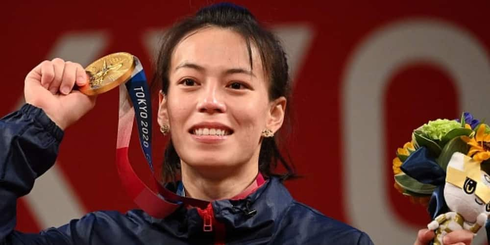 Kuo Hsing-chun wins a gold medal