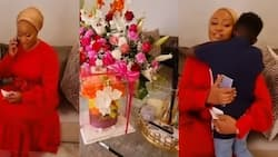 Samira's tall son kisses and prays for her on her 41st b'day, video of adorable mother-son moment pops up