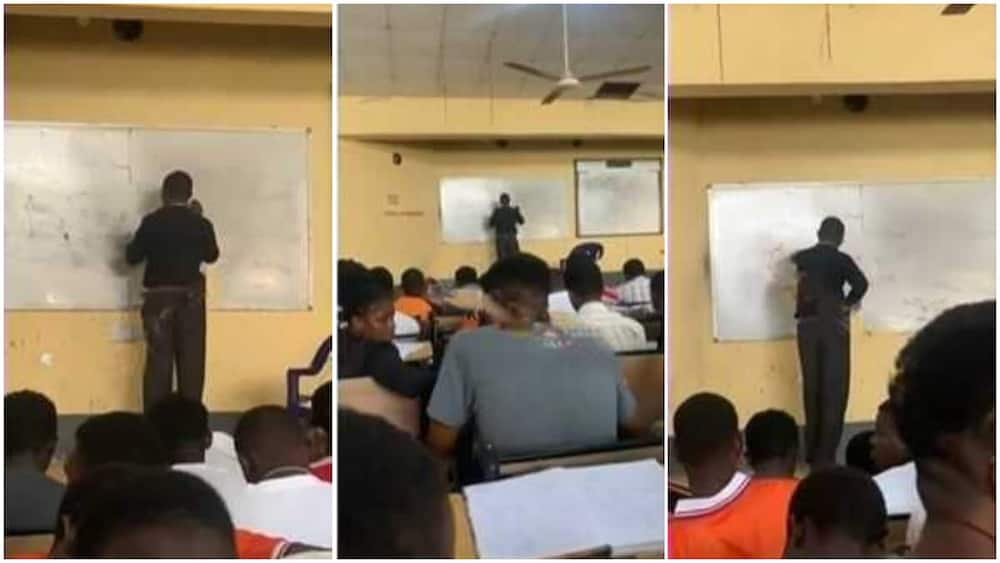 The lecturer's students laughed at him.