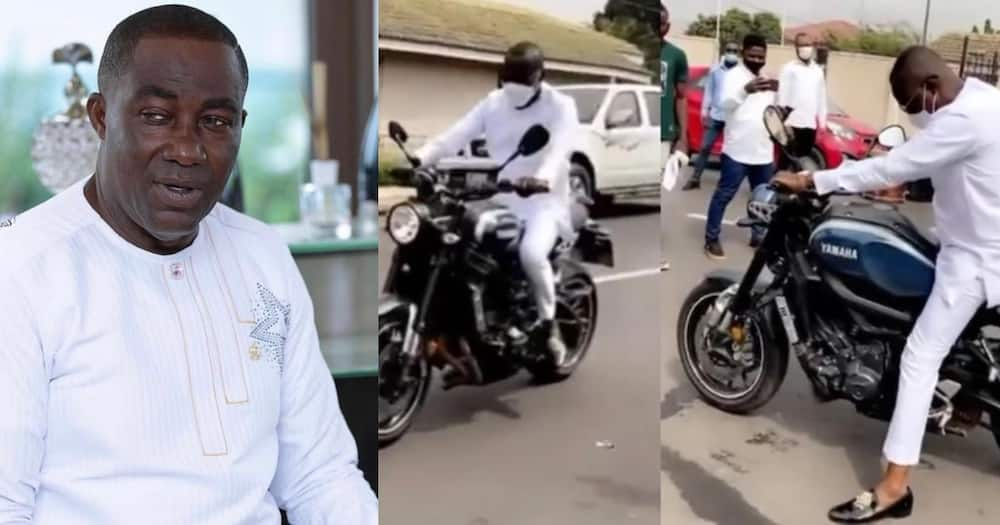 Osei Kwame Despite spotted riding 'okada'; fans react