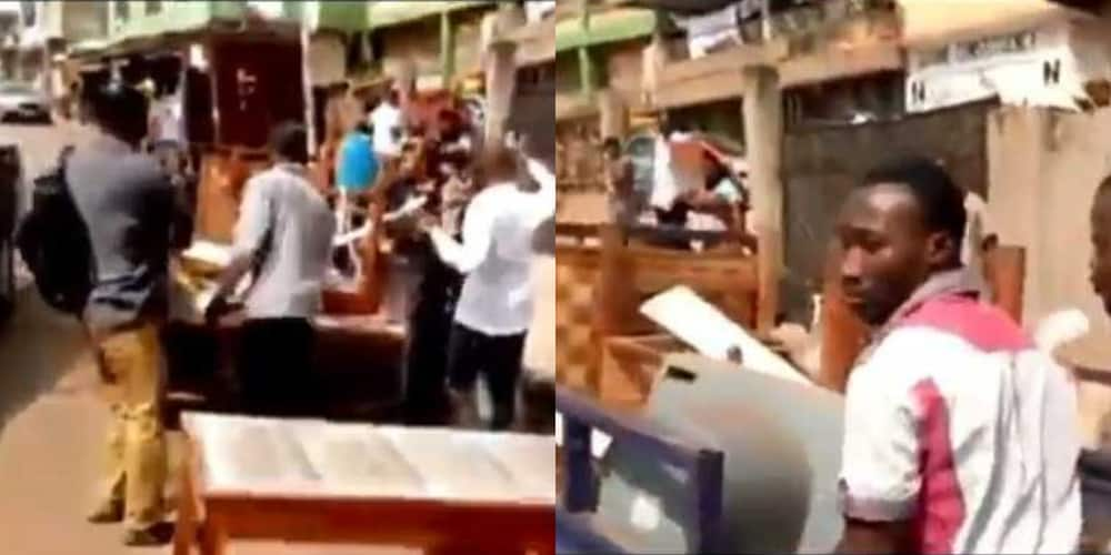 Video drop as NDC Suame supporters loot item from Party office; lock out executives